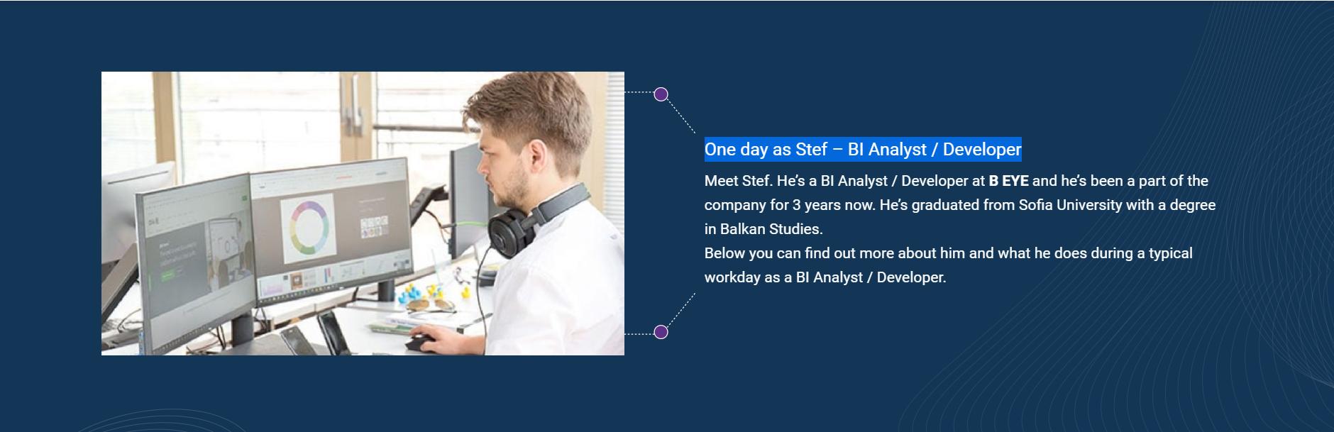 One day as Stef – BI Analyst / Developer